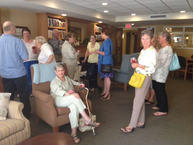 Group of Auxiliary Members socializing at AGM